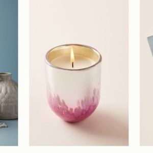 New Anthropologie metallic candle guava